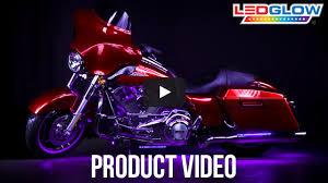 ledglow purple classic led motorcycle light kit