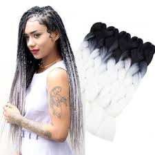 24 inch extensions black white 24inch 24inch 24inch 24inch 24inch 5pcs 2 tone ombre