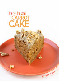 fruity frosted carrot cake feasting on fruit