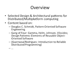 design pattern c gang of four architecture of software systems lecture 4 design patterns for