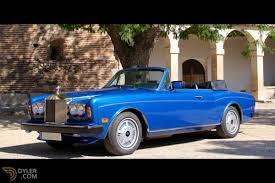 rolls royce blue classic 1985 rolls royce corniche cabriolet roadster for sale
