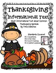 thanksgiving symbols reading comprehension passages paragraph