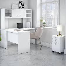 White L Shaped Desks Kathy Ireland Officebush Echo 4 Piece L Shape Desk Office