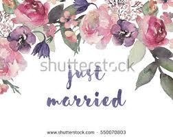 Bouquet For Wedding Watercolor Floral Frame Border Flower Illustration Stock