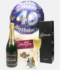40th birthday delivery 40th birthday chagne and chocolates gift price inc next day