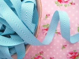 blue and white striped ribbon ribbons