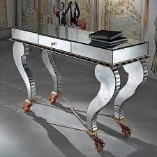 Venetian Mirrored Console Table Mirrored Console Table With Drawers The Functional And Stunning