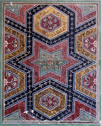 Mirs Rugs Faience Tile Work In Hexagonal Pattern From Wazir Khan Mosque In