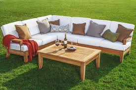 Sectional Sofa Set 5 Pc A Grade Teak Wood Outdoor Teakwood Patio Sectional Sofa Set