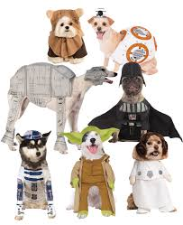 star wars dog fancy dress halloween sci fi film animal puppy pet