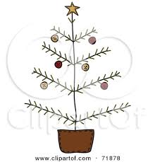primitive christmas tree primitive christmas tree clipart clipartxtras
