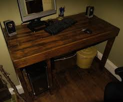 How To Build A Small Computer Desk by Pallet Wood Desk 8 Steps With Pictures