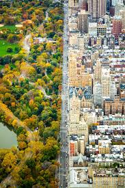 central park thanksgiving central park west in new york city as seen from above where