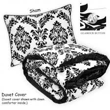 Brocade Duvet Cover He Baroque My Heart Set Flocked Damask White Duvet