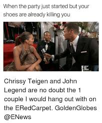 John Legend Meme - when the party just started but your shoes are already killing you
