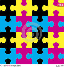 cymk puzzle puzzle cmyk seamless pattern free stock images photos 8089180