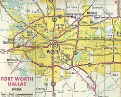 fort worth map dallas fort worth freeways book free