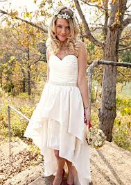 modern casual wedding dresses the hi low hem not so keen on the bodice and my knees would