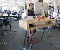 Ikea Desk Stand Ikea Standing Desk Hack Ideas Office Space Pinterest Desks Stand