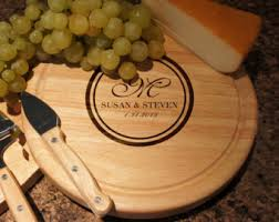 personalized cheese board personalized cheese board cutlery set with engraved