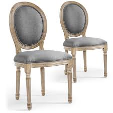 lot 2 chaises médaillon louis xvi tissu