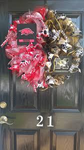 arkansas razorback home decor house divided deco mesh wreath arkansas razorbacks missouri