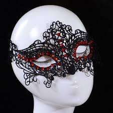 halloween woman mask new design women lace face eye mask masquerade ball red crystal