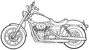 big dog motorcycle coloring pages coloringstar