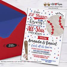 baseball baby shower baby shower invitation baseball co ed baby shower invitation diy