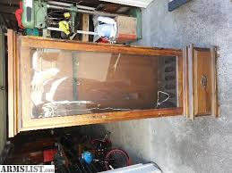 Glass Gun Cabinet Armslist For Sale Sold 6 Rifle Gun Cabinet Wood And Glass W Lock