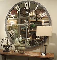 large wall clock amazon com xl 60 mirrored round wall clock oversize modern