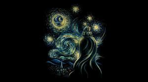 vincent van gogh starry night wallpaper wth