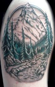 pine trees wilderness mountains nature tattoo monique ligons
