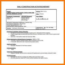 daily site report template 7 daily report construction park attendant
