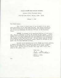 Society Letter Before Letter To Board Members About The Jan 26th 1966 Board Meeting