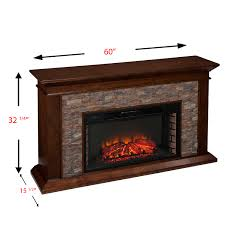 utley 60 inch simulated stone electric fireplace electric