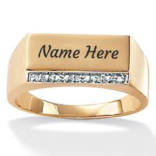wedding ring names gold personalized mens engagement ring with your name