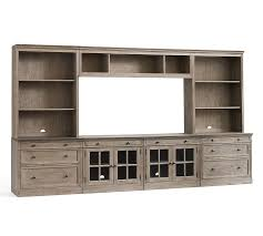 media cabinet with drawers livingston large media suite pottery barn