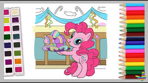 my little pony coloring pages pinkie pie coloring book youtube