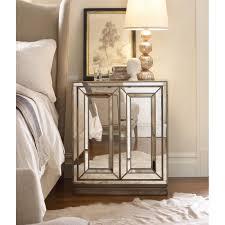 buy the hooker sanctuary two door mirrored nightstand ho 3014