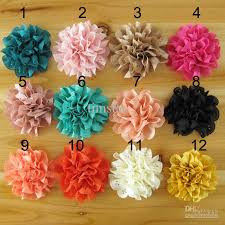 wholesale headbands 3inch diy fabric flowers for headband baby hair accessories