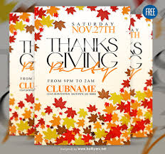 free psd thanksgiving flyer template by hotflyers on deviantart