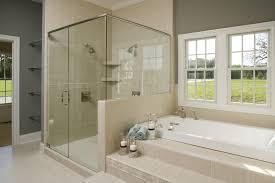 cozy curtain bathtub single glass in small bathroom shower