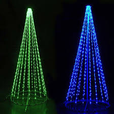led tree lights multi color led light show cone