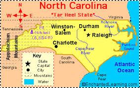 usa carolina map carolina facts map and state symbols enchantedlearning