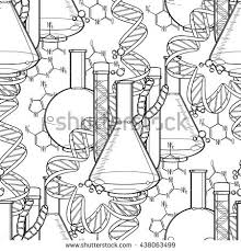 graphic dna structure floral design isolated stock vector