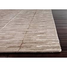 Modern Designer Rugs by Watten Modern Linear Trellis Grey Wool Rug 3 U00276x5 U00276 Kathy