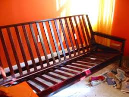 queen thick amazing futon w gorgeous folding frame dark wood