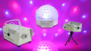 Party Lighting Ibiza Portable Party Dj Led Light Club Laser Disco Ball Smoke Fog