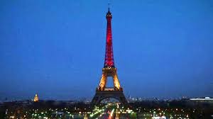 French Flag Eiffel Tower Eiffel Tower Lights Up In Colors Of Belgian Flag Wsoc Tv